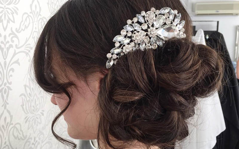 Occasion hair with fascinators