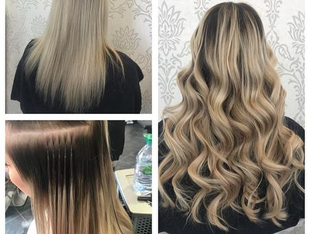 Hair Extensions collage
